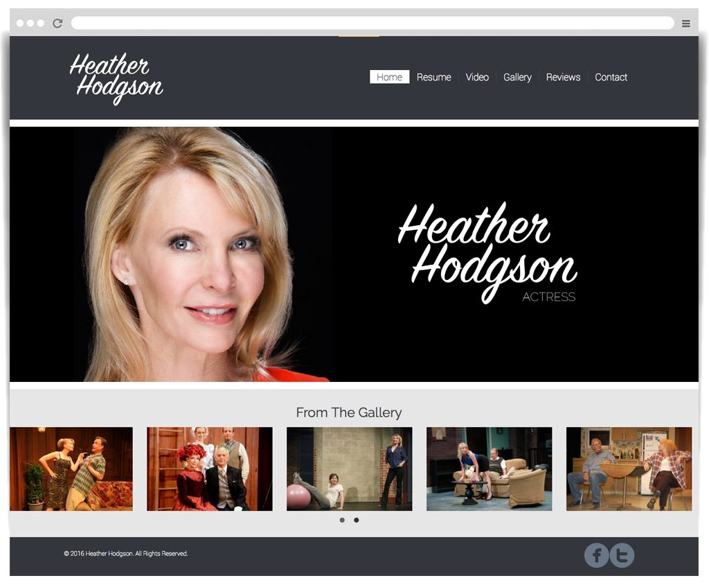 Heather Hodgson-Actress