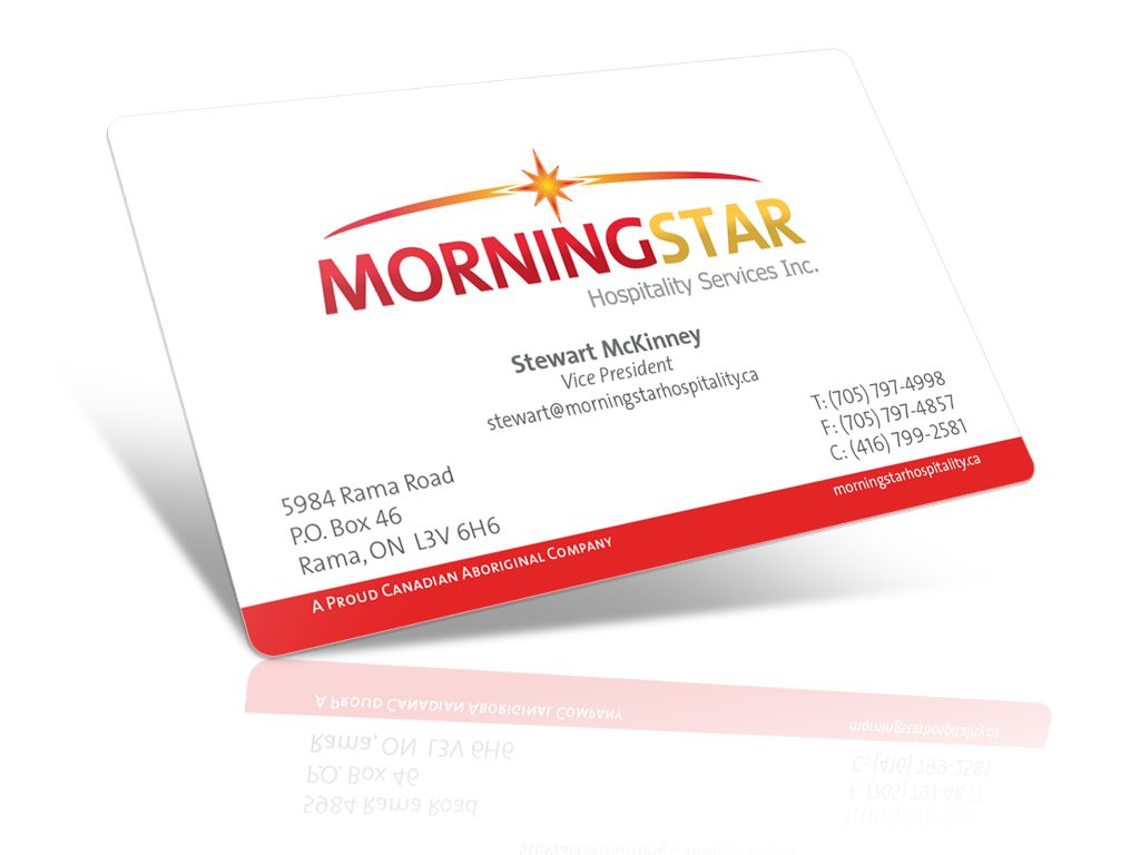 Morningstar Hospitality Business Cards