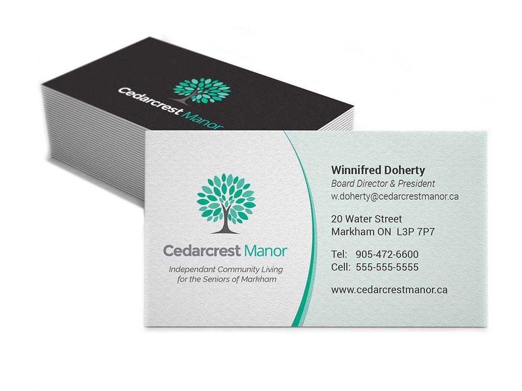 Cedarcrest Manor Business Cards