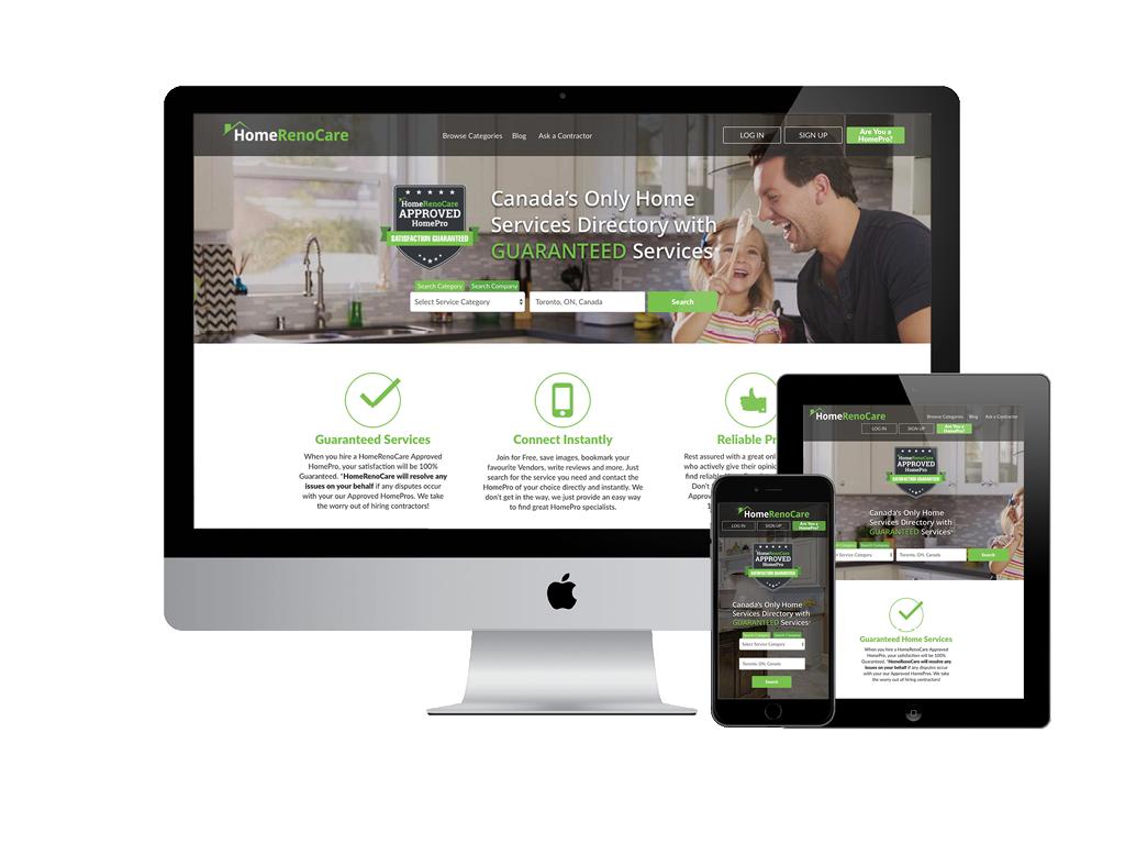 HomeRenoCare Responsive Website