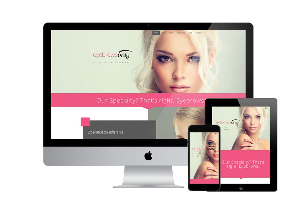 EyebrowsOnly Responsive Website