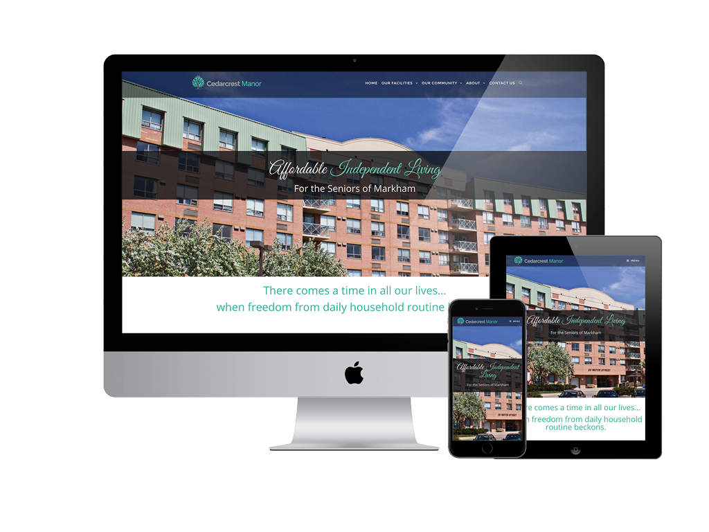 Cedarcrest Manor Responsive Website