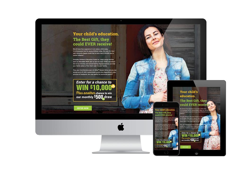 CEFI Landing Page – Responsive Design